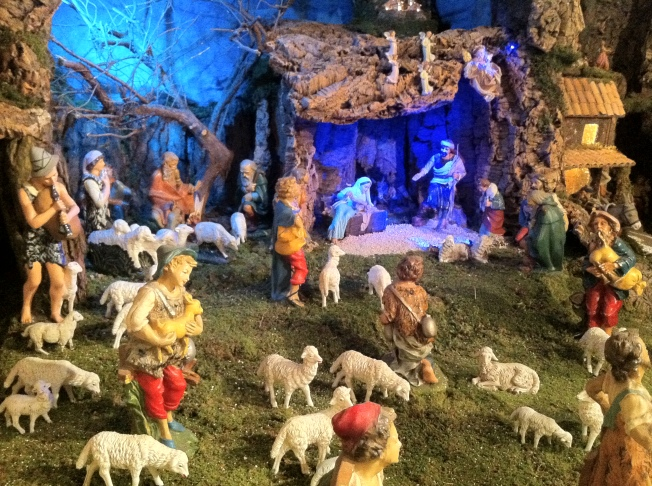 A small corner of the city's largest nativity scene at Sant' Antonio Abbate