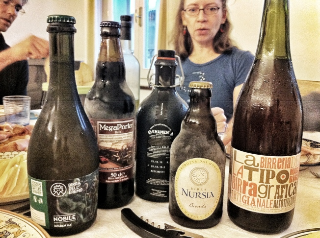 """Most of us chose the """"lentil beer"""" in the middle as our favorite"""