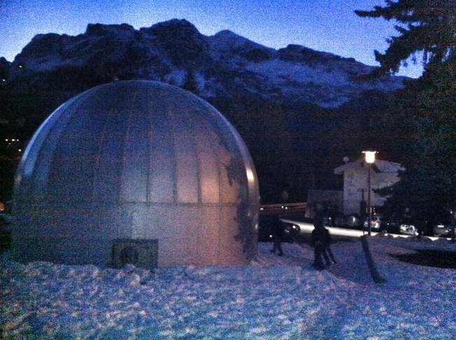 We started at the planetarium in downtown Cortina where we watched replicated views of the night skies ranging from 500 BC to the future.