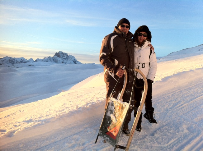 Milena and Sergio on top of the world