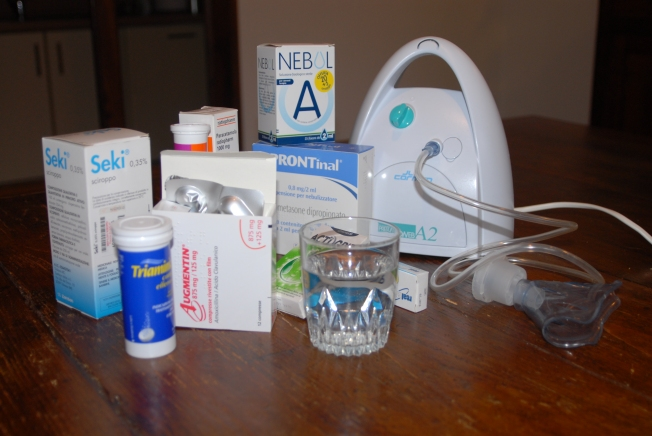 A table full of Italian flu remedies