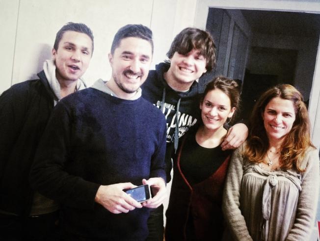 Ismael, Luca, Boris, Laura and me.