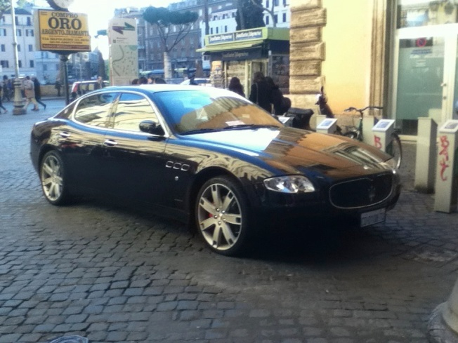 We saw this Maserati near our hotel in Rome.