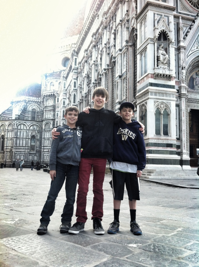 Tom, Ray and me in Florence