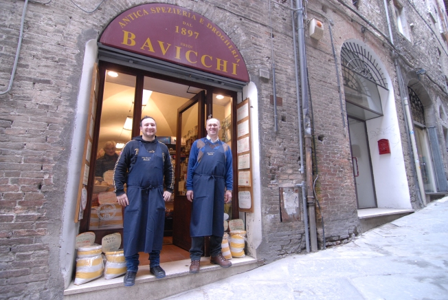 Federico and Antonio at Bavicchi Antica Spezieria e drogheria