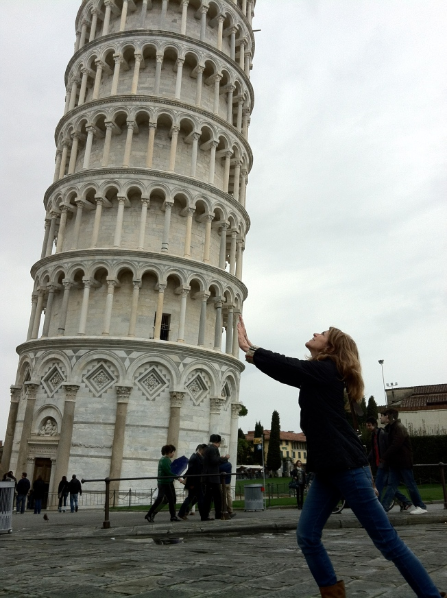 Trying to straighten the tower