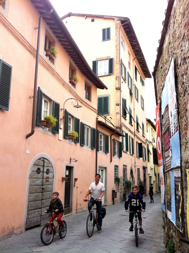Biking in Lucca