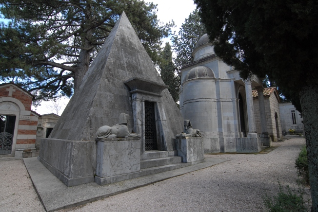 Yes, a pyramid tomb in Perugia