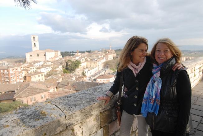 My mom and I in Piazza Italia.