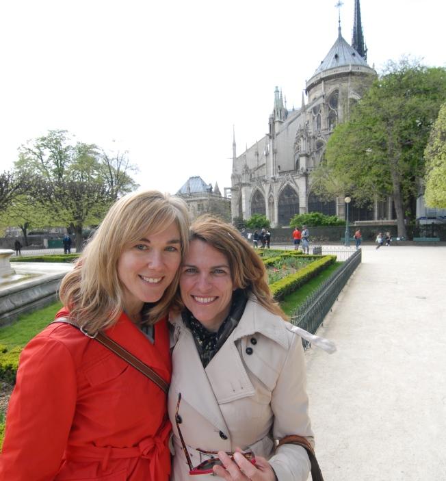 Lynn and I near Notre Dame