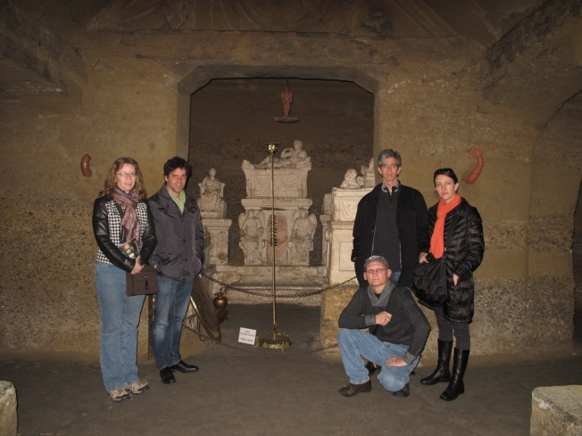 """We visited the underground """"Ipogeno dei Volumni"""" with our guests in December.  This is one of the best-preserved Etruscan tombs in Italy.  It dates back to 200 BC"""