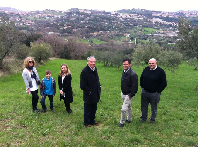 A walk on the rolling, green, olive-tree-covered hills of Umbria