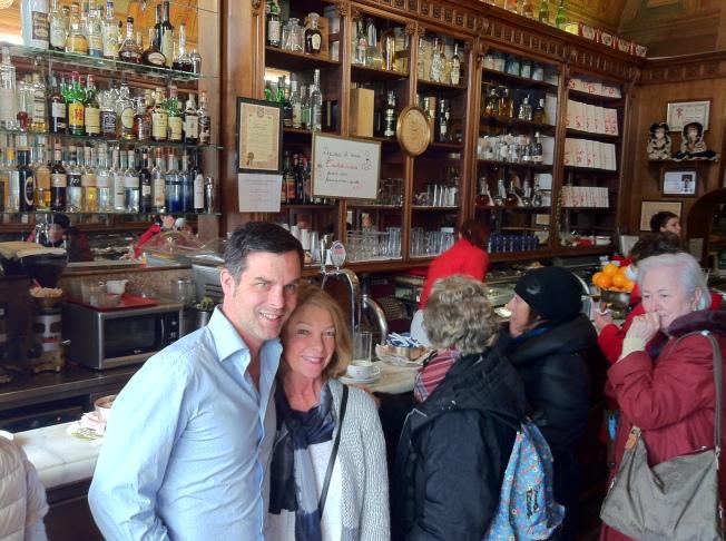 Matt and my mom at the bar