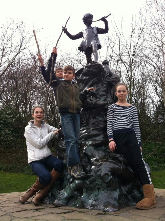 The kids with Peter Pan.