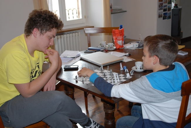 Yesterday, Giovanni interrupted the lesson to ask Ray if he would play a game of chess.