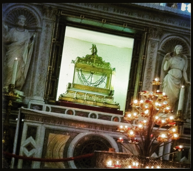 San Pietro in Vincoli: Just as many people visit The Chains that bound St. Peter as Michelangelo's Moses.