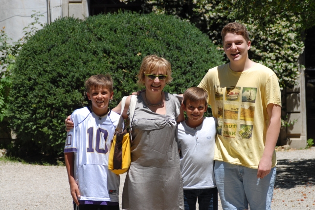 Here is Giovanni with his mom, Ray and me when we had lunch at his house.
