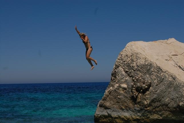 Stacia takes a leap.