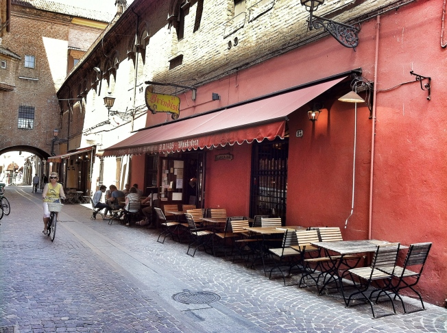 Looking forward to this evening when we visit the oldest wine bar in Europe, Al Brindisi. Copernicus drank here.