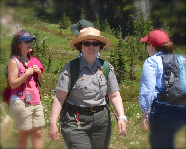 While Ranger Anne didn't hold a candle to the engaging Signor Luciano of Rome, she did provide an interesting lesson on ancient history (albeit geological).
