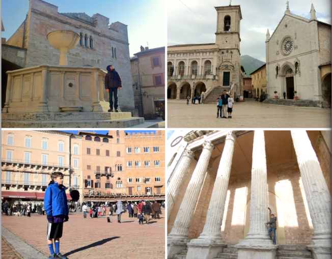 Bevagna, Norcia, Siena and Assisi