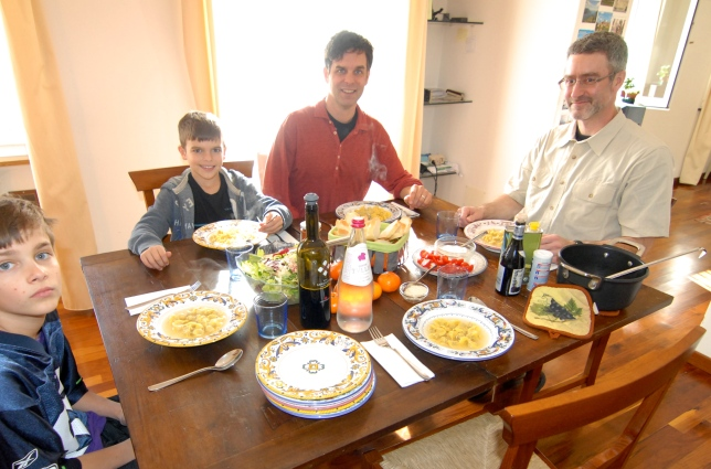 A winter lunch with Pedar in our Perugian apartment.